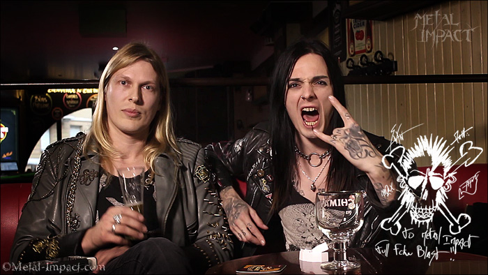 Interview : BLACKRAIN (FRA) - Swan Hellion et Matthieu De La Roche (Jan-2016 / ITW-VIDEO)