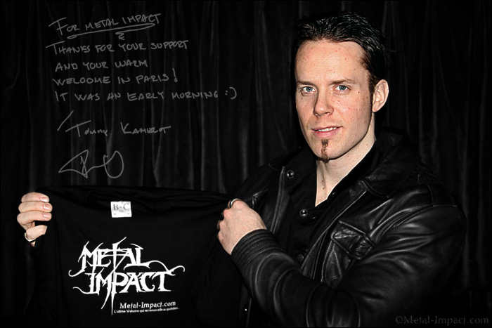 Interview : KAMELOT (usa) - Tommy Karevik (Mars-2015 / ITW-VIDEO)